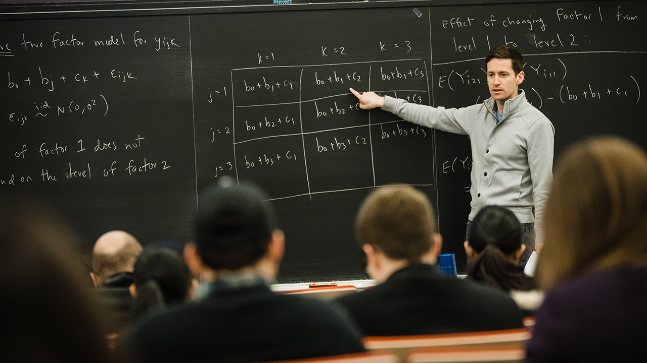 A professor giving a lecture.